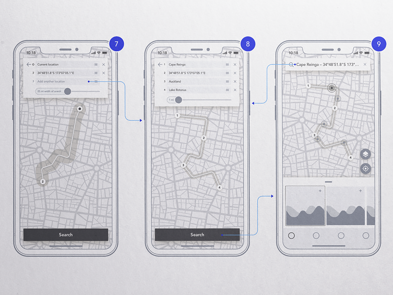 Droneplaces wireframes