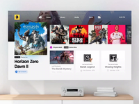 PlayStation 5 Concept UI - InVision Studio free freebie playstation game invision studio studio invision playstation5