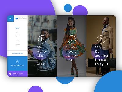 #OwnTheFuture Campaign Design web design blue gradient pension modern ux ui