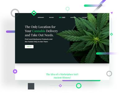 Web Design for Bake Sales 420 bake gradient green web landing adobexd weed cannabis ui