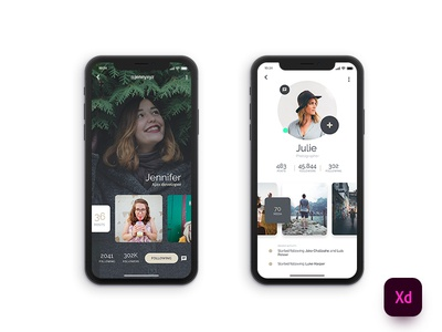 iX Profile 2styles XD Freebie adobe xd adobexd profile iphonex
