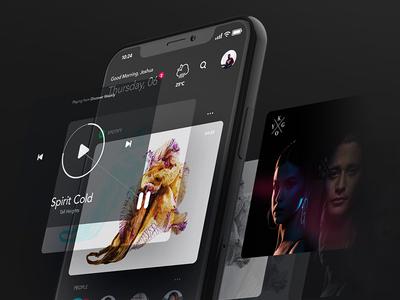 WIP: Experimental 💸📱09/40: 3D iPhone XX ? extrude iphone x photoshop 3d hover iphonex futuristic ui