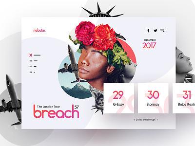 Experimental 🎤10/40: Nebular Breach 57 Concept concert photoshop 3d music art futuristic ui