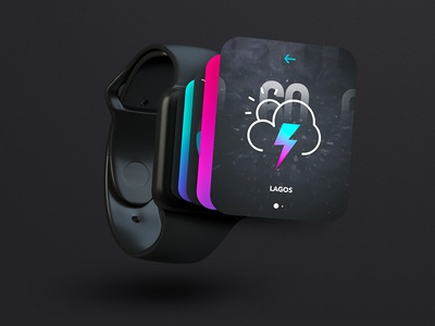 Experimental ⌚️⚡️11/40: 3D Apple Watch Concept extrude ui weather ae 3d apple watch iwatch futuristic