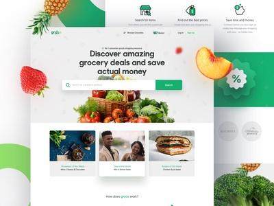 Experimental 🥦🍇 12/40:Grocery Store Thing fruits grocery web landing ui ux modern ecommerce shop cart