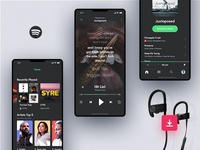 Invision Studio Freebie - Spotify Concept