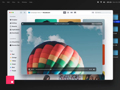 InVision Studio - Quick Look / Mac OS concept design modern redesign preview folders imac finder mp4 invision studio invisionstudio macos