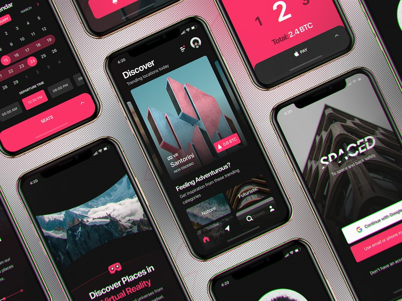 InVision Studio - Spaced Source Files iphonex design freebie invision studio invisionstudio modern ux ui