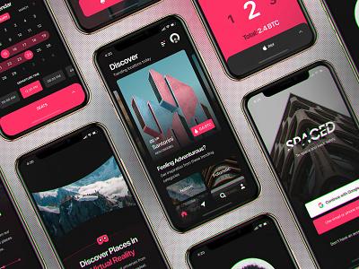 InVision Studio - Spaced Source Files iphonex design freebie invision studio invisionstudio modern ux ui