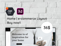 Home | e-commerce Layout XD