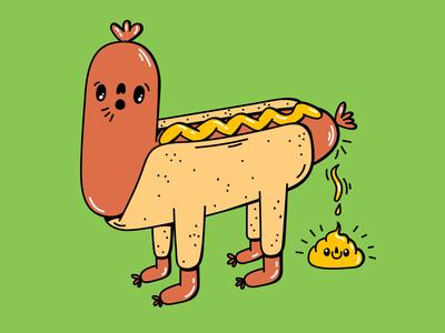Hot Dog Poop