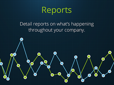 Reports reports get paperless website graph line chart statistics blue green