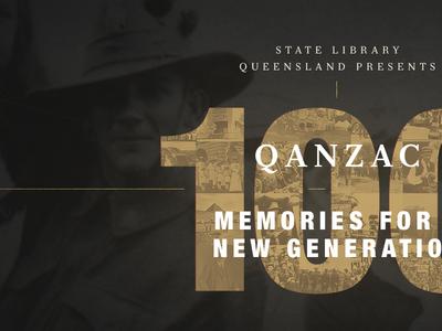 QAnzac100 1 history website page landing home war world memories queensland anzac typography