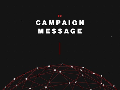 Campaign Message particles network globe dots black red message campaign
