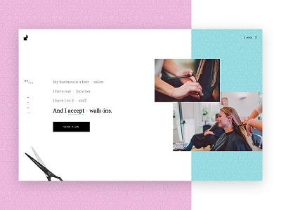 Pitchy form black minimal style pink teal salon fashion form language natural
