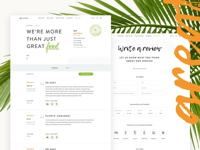 Reviews revised icons food rating ui green white clean minimal fresh revision reviews