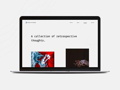Journal simple pattern brand minimal article typography journal blog