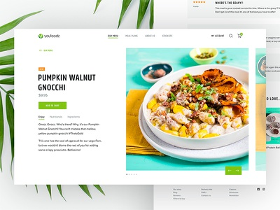 Product Detail leaves summer minimal clean visual layout food detail product
