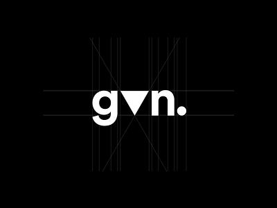gvn. personal brand logo personal brand personal triangle n v g black white minimal simple typography sans serif