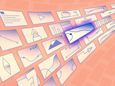 Data Data Data lineart pink abstract post blog flat branding illustration