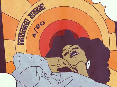 Single Cover vintage 70s summer of love illustration single cover album cover music