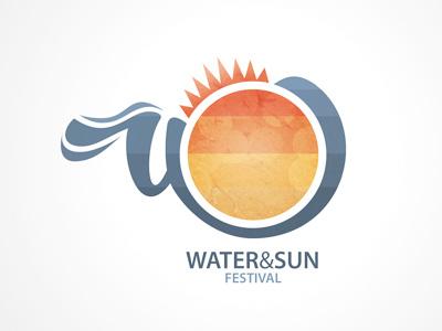 Water&Sun Festival festival logo sun design water