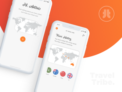 UI UX Design for a Minimal Travel App product design prototyping branding and identity gradiant travel app travel clean ui minimalism interface design experience design interaction design uxdesign ui design ui  ux ui branding uiux dribble shot