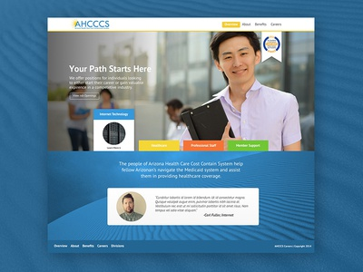 AHCCCS Career Site Concept fullwidth arizona career site jobs recruiting site layout