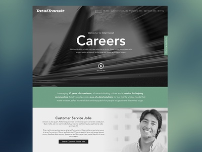 Careers in Motion - WIP career site layout jobs microsite