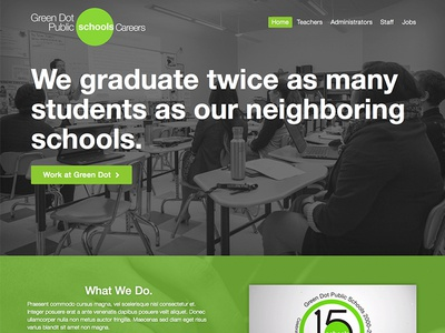 Green Dot Schools - Careers careers jobs site layout marketing