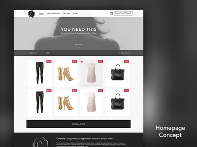 The Comely - Homepage Concept layout shopping ecommerce site pinterest grid masonry
