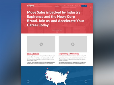 Move.com Careers careers jobs site layout marketing