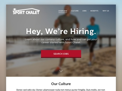 Sport Chalet Careers careers jobs site layout marketing sports running web design