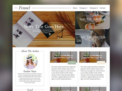 Fennel theme layout grid box wordpress
