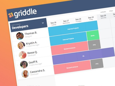 Schedule View tracking time management process wip grid schedule calendar ui