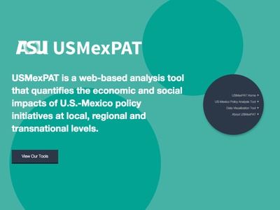 USMexPAT Landing Page splash circles asu marketing