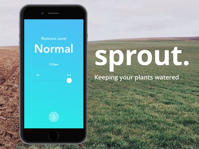 Sprout - Keeping Your Plants Watered modern minimal simple ios ui