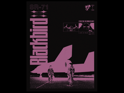 SR-71 layout typography poster graphic design