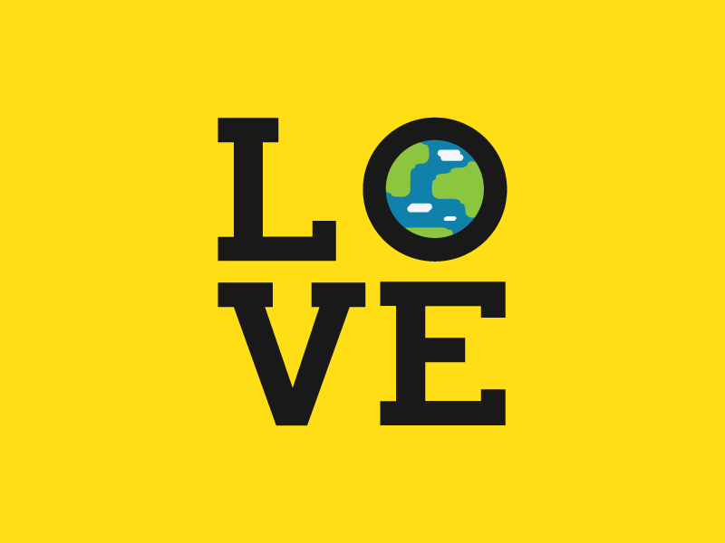 Love Around The Globe By Andrew M Schuster Dribbble
