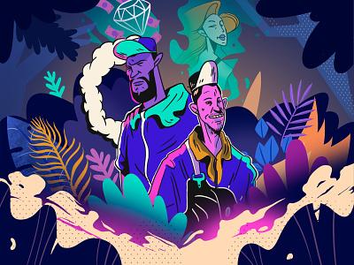 Cover Album Musik California Hiphop bussines graph peoples cover design ux pintar arte vector diseño diseños de personajes animación ilustración