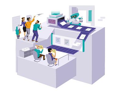 service process logo diseño de la cubierta libro de tapa negocio gente grafico negocios icono ux pintar arte vector diseño diseños de personajes animación ilustración