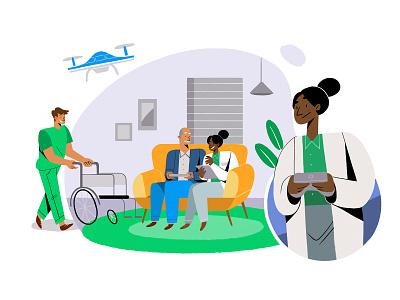 Medical Care medical care arte infografia libro de tapa gente negocios grafico icono ux pintar vector diseño diseños de personajes animación ilustración