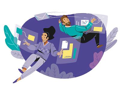 Modern And Intuitive Interface landing page diseño web infografia logo libro de tapa gente negocios grafico icono ux pintar arte vector diseño diseños de personajes animación ilustración