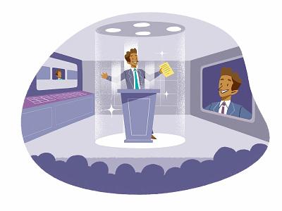 Systematically Elected Speaker ui infografia logo libro de tapa gente negocios grafico icono ux pintar arte vector diseño diseños de personajes animación ilustración