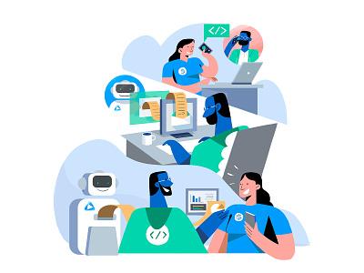 Global Api Main Brand Identity Illustration ui infografia logo libro de tapa gente negocios grafico icono ux pintar arte vector diseño diseños de personajes animación ilustración