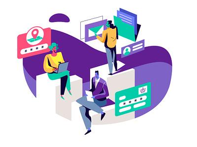 Focused At Consumers motion graphic animation portraits ui infografia logo libro de tapa gente negocios grafico icono ux pintar arte vector diseño diseños de personajes animación ilustración
