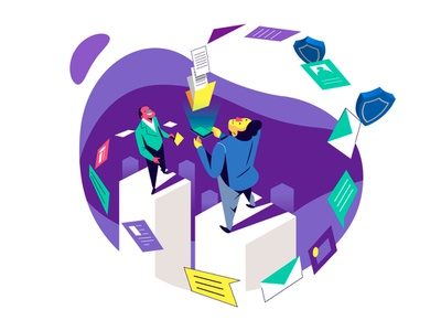 Focused On Businesses márketing ui infografia logo libro de tapa gente negocios grafico icono ux pintar arte vector diseño diseños de personajes animación ilustración