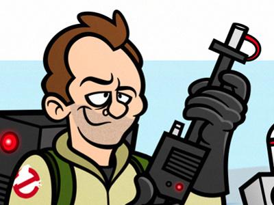 Dr. Peter Venkman illustration vector ghostbusters film movies peter venkman bill murray