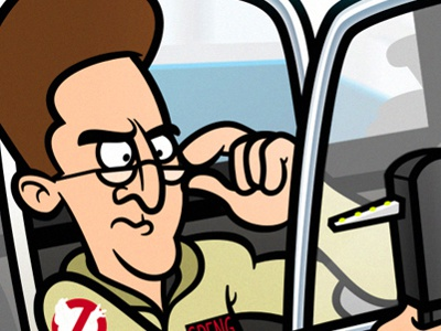 Dr. Egon Spengler illustration vector ghostbusters film movies egon spengler harold ramis