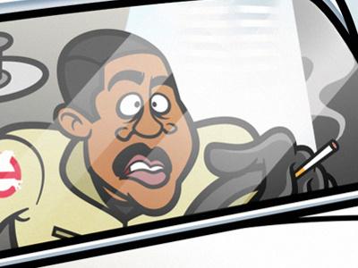 Winston Zeddemore illustration vector ghostbusters film movies winston zeddemore ernie hudson
